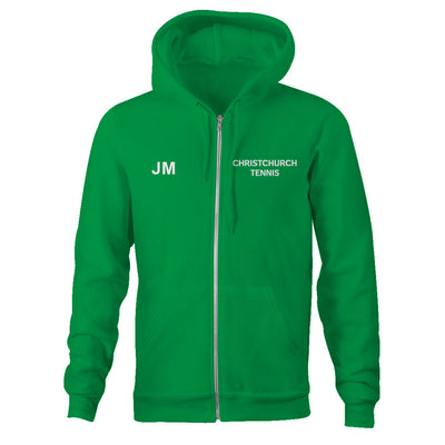 Christchurch Tennis Club Adults Classic Unisex Zip Hoodie