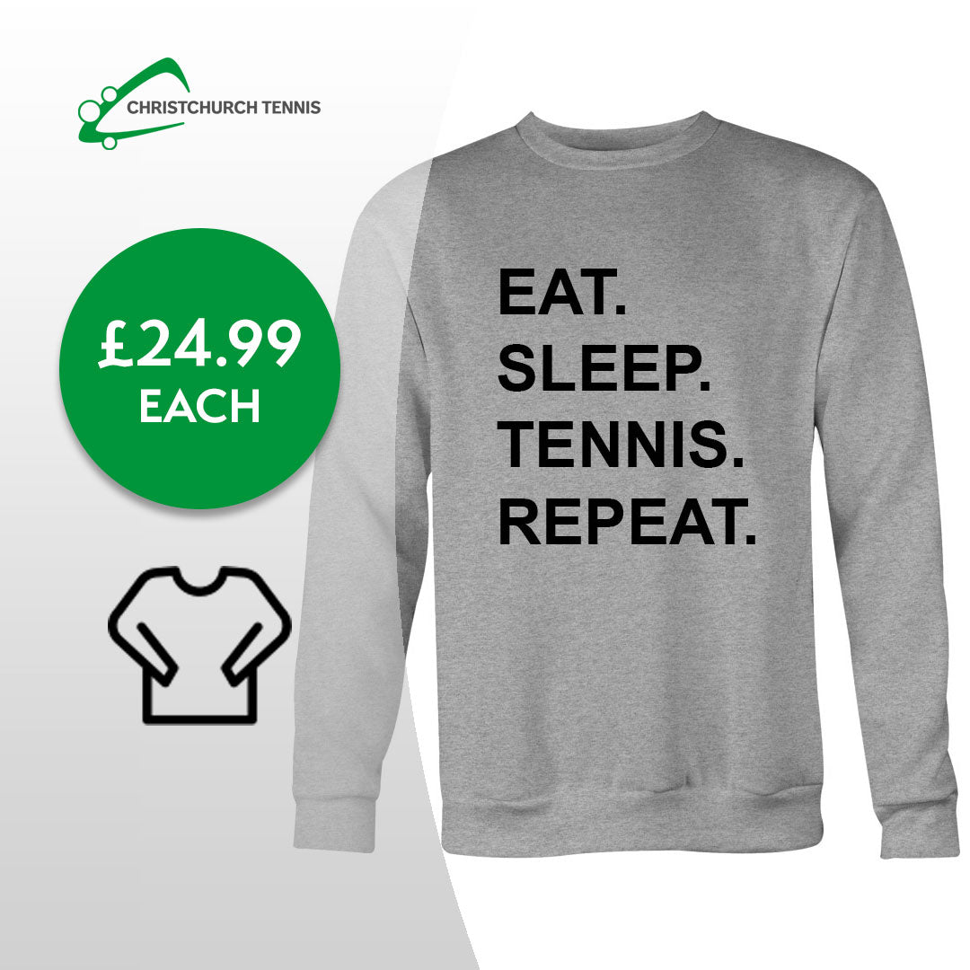 Eat, Sleep, Tennis, Repeat Adults Classic Unisex Sweatshirt