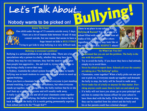 "9"" x 12"" Bullying Info Cards"