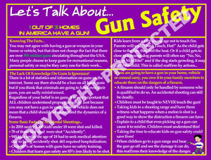 Gun Safety Info Cards