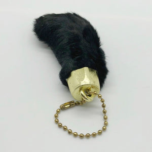 Black Dyed Lucky Rabbit Foot In Organza Bag - Collectables:keyrings