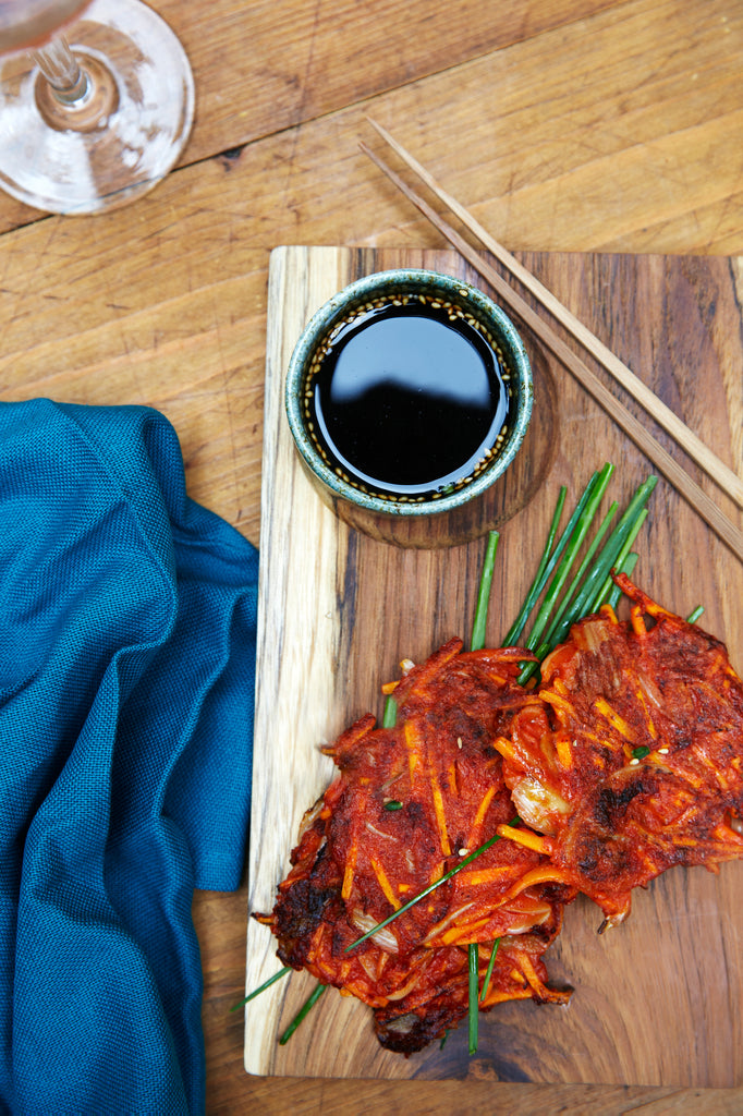 RECIPE: YUMCHI Fritters with Fermented Black Vinegar Sauce VEGAN