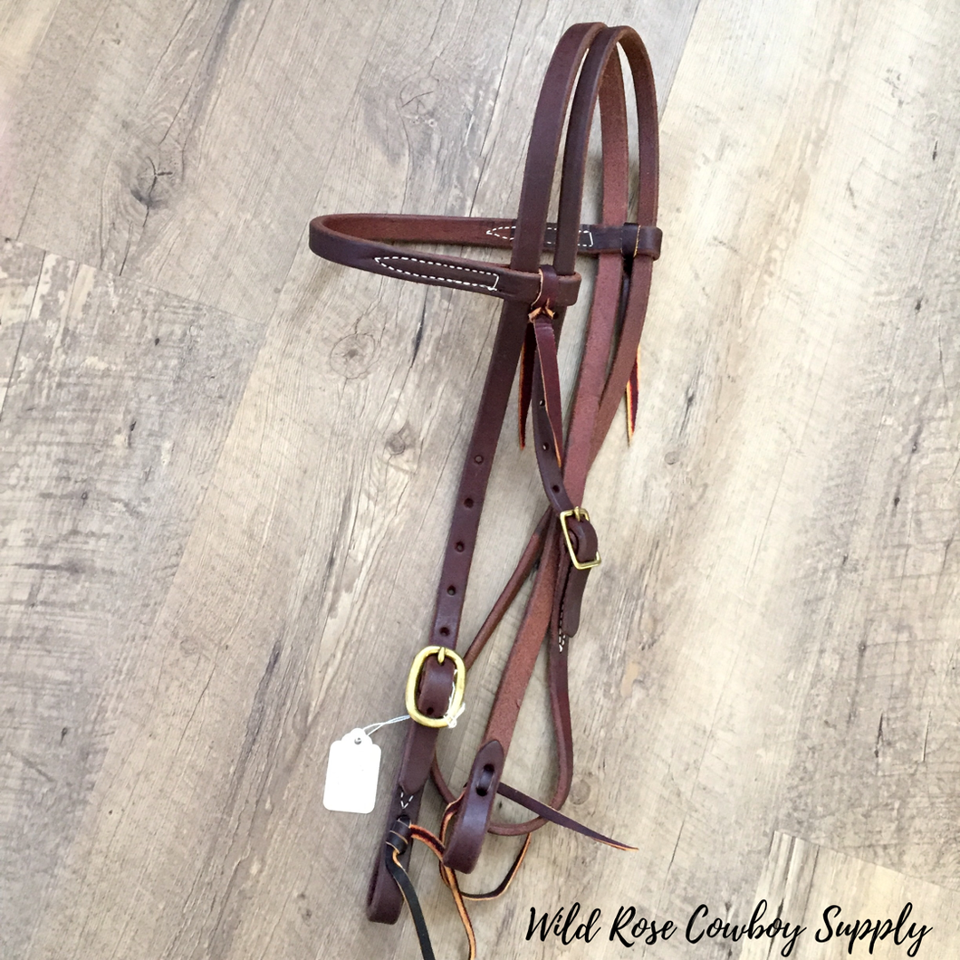 Heavy Oiled Browband Headstall