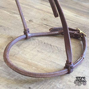 Leather Cavesson with Rolled Noseband