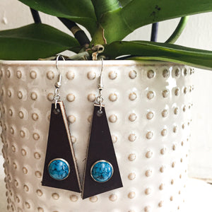 Cacao Triangle Earrings