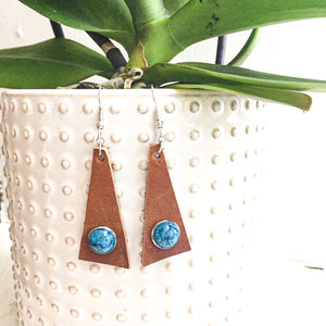 Rust Triangle Earrings