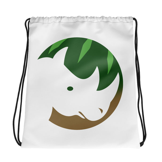 The Vegan Rhino Drawstring bag