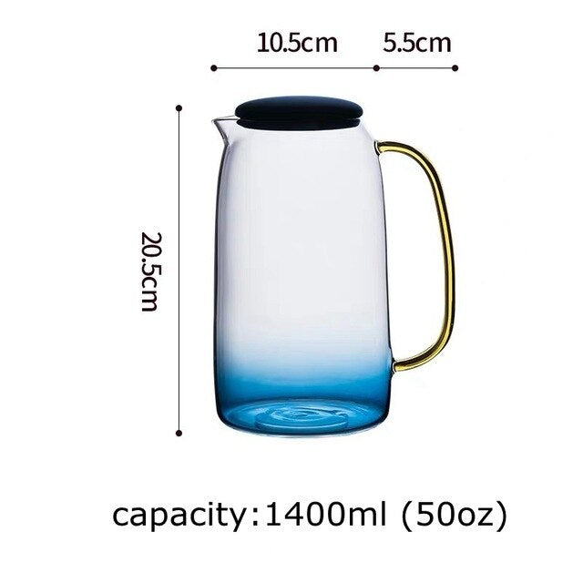 1500ml Glass Water Pitcher