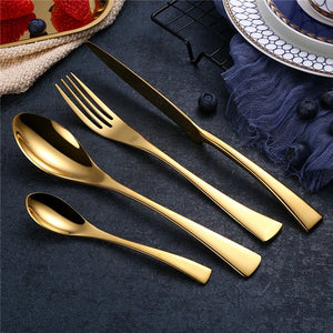 Stainless Steel Cutlery Tableware Set (4 piece)