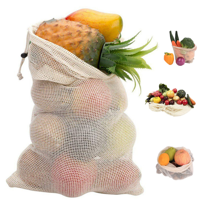 Reusable Mesh Bags For Home Kitchen Fruit Vegetable