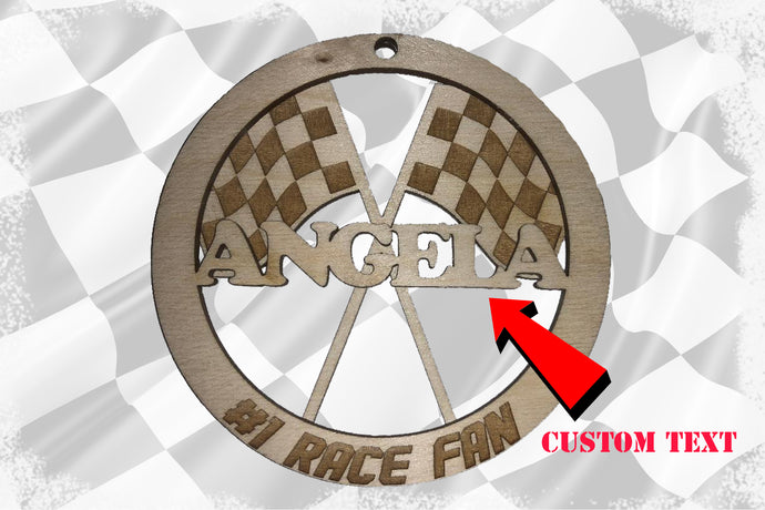 Custom 2 Layer #1 Race Fan Ornament