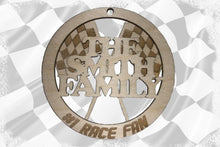 Load image into Gallery viewer, Custom 2 Layer #1 Race Fan Ornament