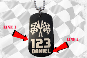 Custom Dog Tag with 2 Free Lines of Text