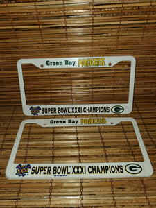 Vintage 1997 Packers Championship Superbowl XXXI License Plate Cover Bundle