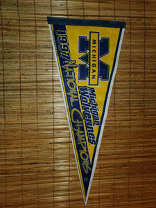 Vintage 1997 Michigan Wolverines Pennant