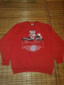 L - Vintage Wisconsin Badgers Rose Bowl Sweater