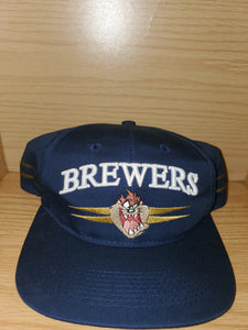 Vintage 1996 Brewers Looney Tunes Taz Hat