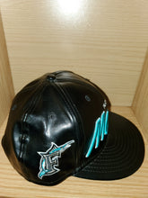 "Load image into Gallery viewer, Florida Marlins ""Leather"" Hat"
