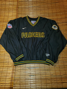 XL - Vintage Reebok Packers Pullover Windbreaker