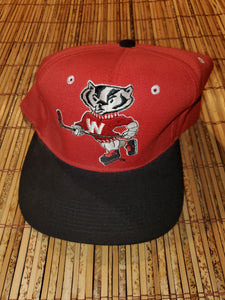 Vintage Fitted Badgers Hockey Hat