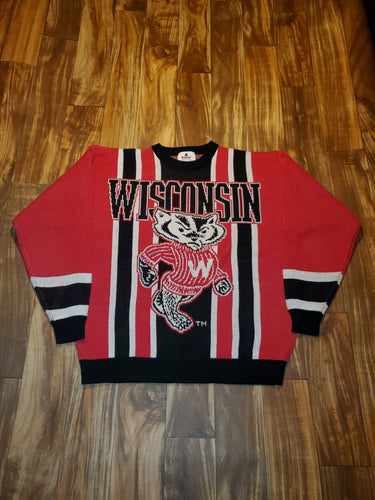 L - NEW Vintage Wisconsin Badgers Sweater
