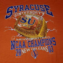 Load image into Gallery viewer, XL - 2003 Syracuse University NCAA Champions Shirt