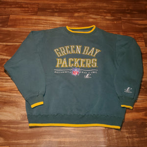 L - Vintage Packers Logo Athletic Crewneck