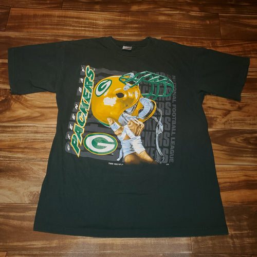 L - Vintage 1995 Packers Helmet Shirt