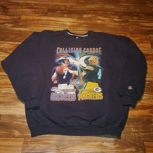 XL - Vintage Packers Broncos Super Bowl Crewneck