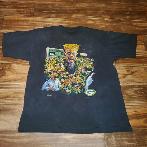 L - Vintage Rare Packers Cheese Head Faded Shirt