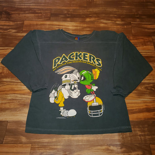 L/XL - Vintage 1993 Packers Looney Tunes Shirt