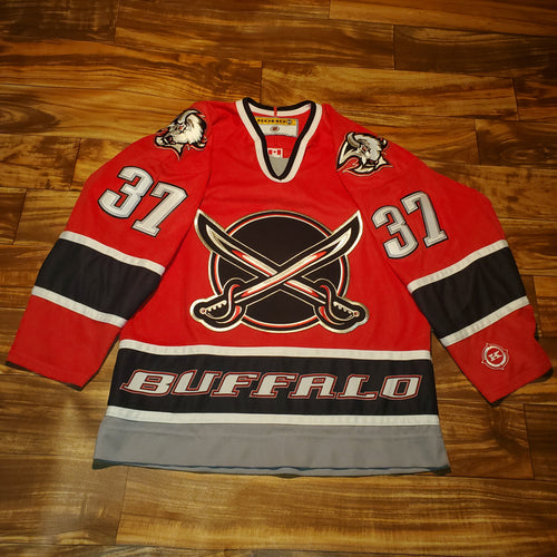 M/L - Buffalo Sabres Curtis Brown Stitched Jersey