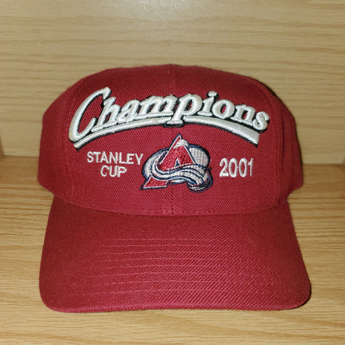Vintage 2001 Colorado Avalanche Champions NHL Hat
