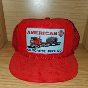 Vintage American Concrete Pipe Co Trucker Hat