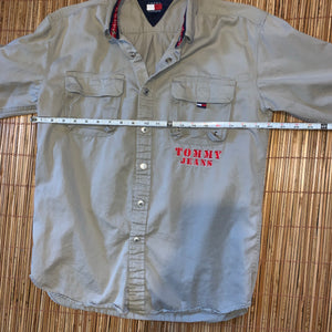 XL (See Measurements) - Tommy Jeans Button Up Jacket