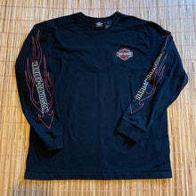 Load image into Gallery viewer, XL - Harley Davidson Flaming Embroidered Shirt