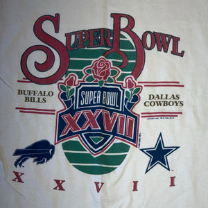 L(Fits XL-See Measurements) - Vintage 1993 Super Bowl XXVII Shirt