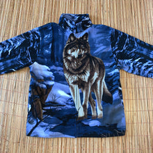 Load image into Gallery viewer, XL - Trail Crest Wolf Zip Fleece