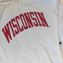 Load image into Gallery viewer, M/L - Wisconsin Badgers Champion Spellout Hoodie