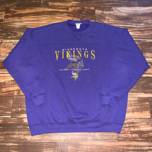 XL - Vintage Minnesota Vikings Lee Crewneck