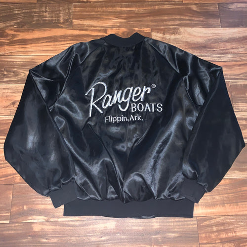 XL - Vintage Ranger Boats Lined Satin Jacket RARE