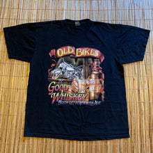 Load image into Gallery viewer, L - Old Bikes Good Whiskey Biker Shirt