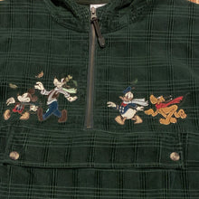 Load image into Gallery viewer, XL - Disney Mickey Goofy Green Soft Zip Jacket
