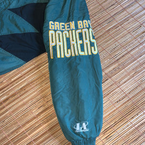 L/XL - Vintage Green Bay Packers Quilted Sharktooth Jacket