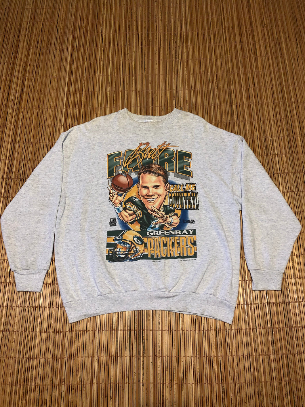 L - Vintage 1995 Brett Favre Call Me Country Sweater