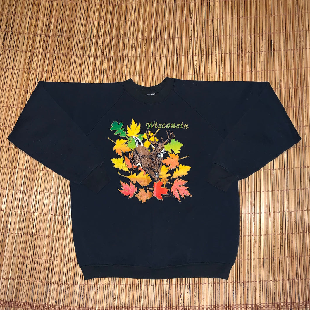 XL - Vintage Wisconsin Fall Sweater