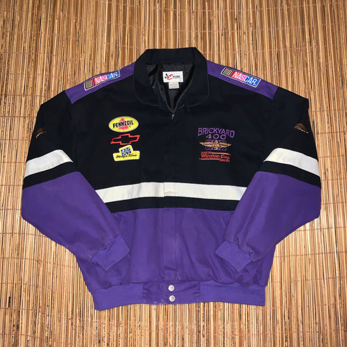L - Brickyard 400 Nascar Zip Jacket