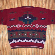 Load image into Gallery viewer, L - Vintage LL Bean 100% Wool Aztec Sweater
