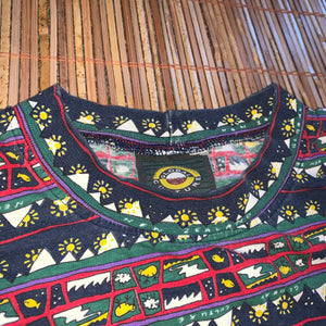 XL - Vintage New Zealand All Over Print Pattern Shirt