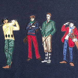 L - Vintage Embroidered Golf Sweater